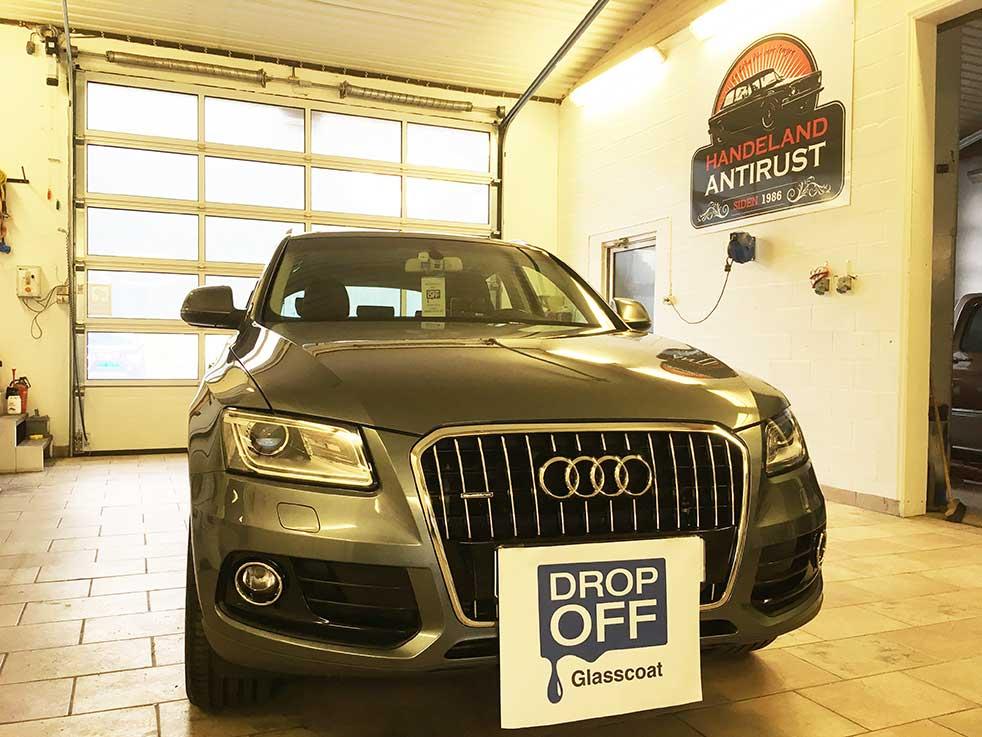 Drop off Audi Handeland antirust bilpleie